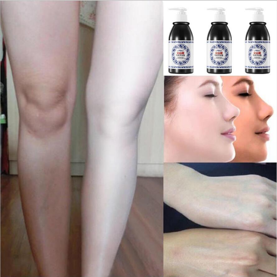 250ml Hot Volcanic Mud Shower Gel Whole Body Wash Fast Whitening Deep Clean Skin Moisturizing Exfoliating Body Care