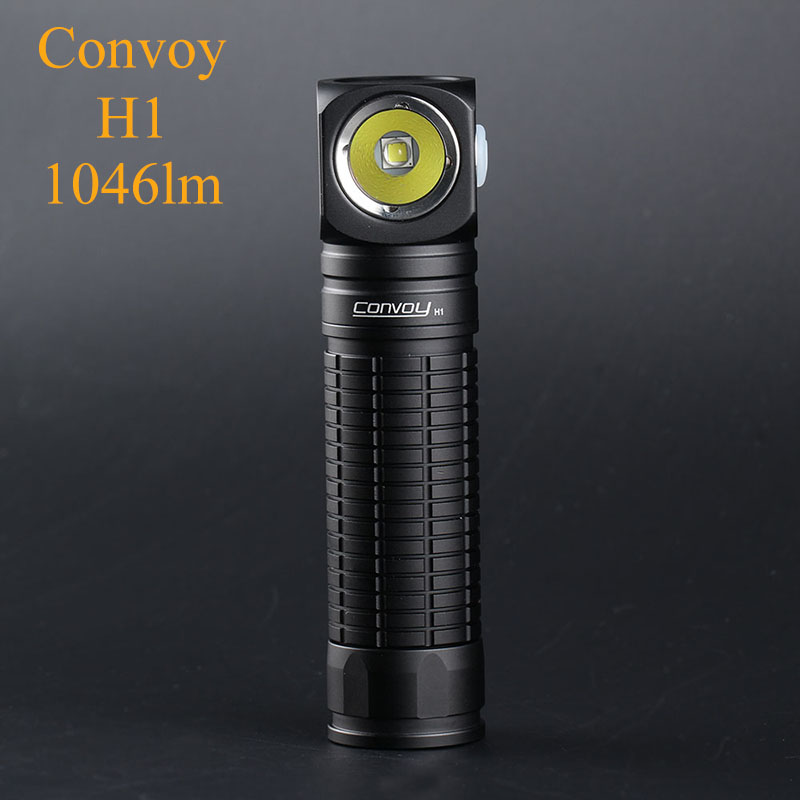 Convoy Flashlight + Headlight Linterna LED Mini Flash Light Torch H1 CREE XML2 1046lm Multifunctional Head Light 18650 Headlight