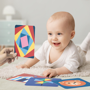 Image 2 - Babygo 80 個セットベビー学習カードおもちゃフルーツ/動物/ライフ視覚励起カード早期教育子供のためのフラッシュカード