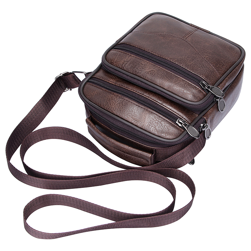 Casual Men Handbag Brief Shoulder Bags Man Solid Leather Messenger Bag Business Crossbody Bag Male Retro Luxury Travel Pouch