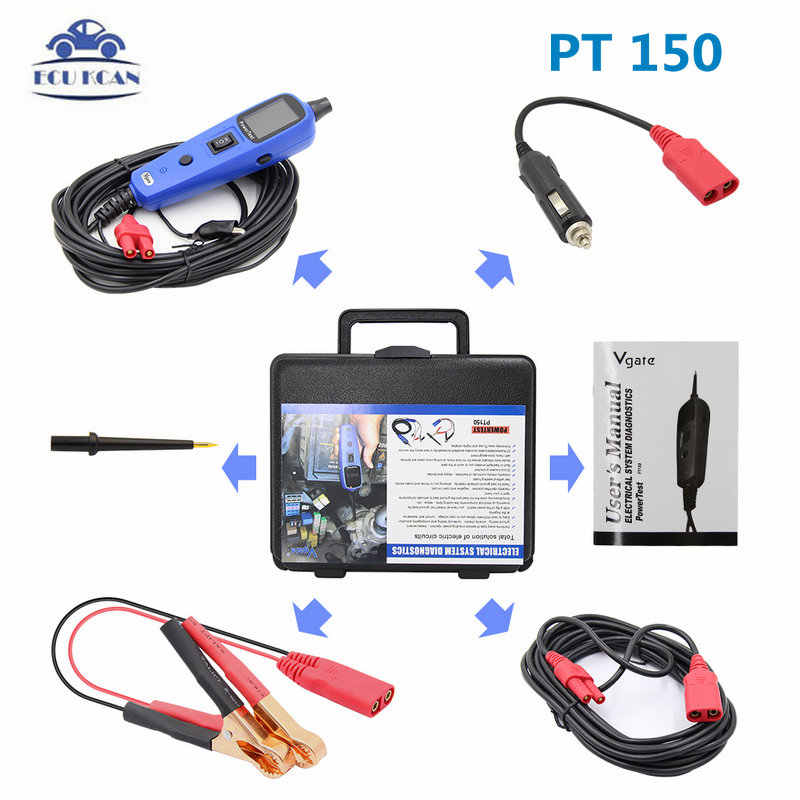 Obdiicat 100% Originele Vgate PT150 Electrical System Diagnostic Circuit Tester Tool Power Probe Tester Vgate Powerscan Pt 150