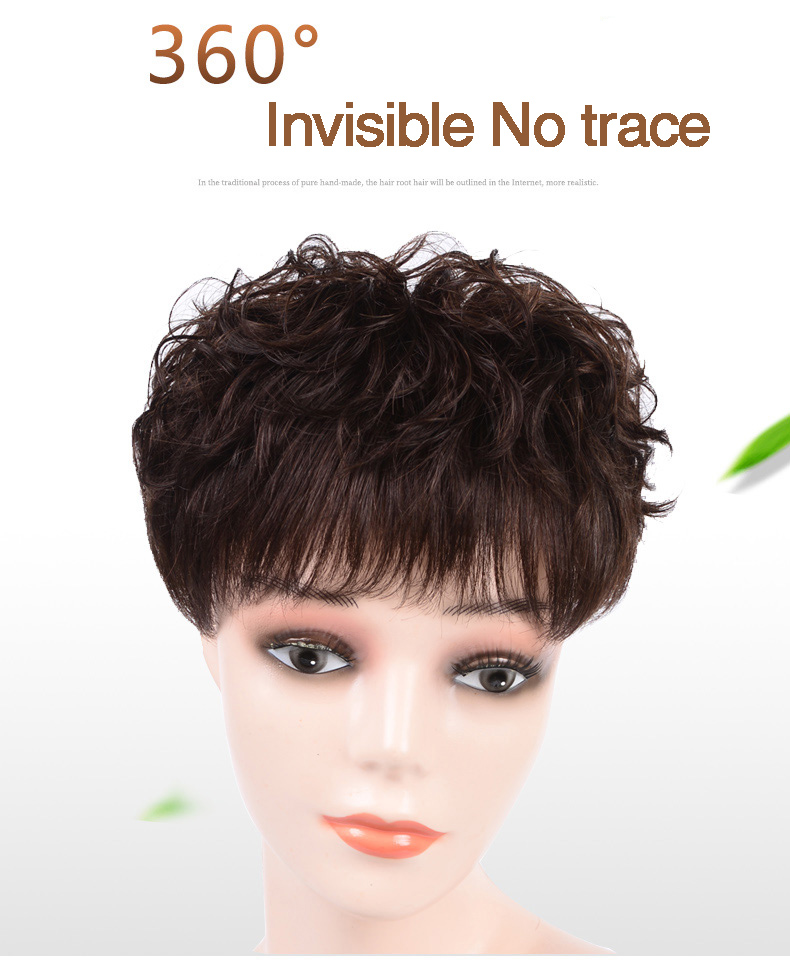 Salonchat Natural Color Remy Crown Hair Topper 16*18 18*20 20*22 Crown for Women Mono Toppers with Clop Toupee for Thinning Hair