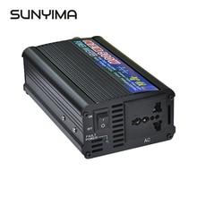 SUNYIMA, 1 шт., 500 Вт, 12 В, 24 В переменного тока, чистая синусоида, инвертор для ног, солнечные инверторы, Преобразователь мощности для автомобиля, бытовой, сделай сам