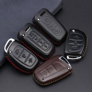 Image 2 - Coche accesorios, llave cubierta caso araba aksesuar para Hyundai IX45 Santa Fe (DM) 2013, 2014, 2015, 2016 3 botones clave Shell
