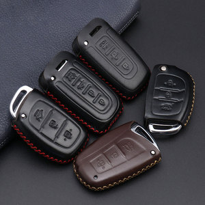 Image 2 - car accessories key cover case araba aksesuar For Hyundai  IX45 Santa Fe (DM) 2013 2014 2015 2016 3 buttons Auto Key Shell