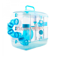 25%Small Pet Guinea Pig Hamster Cage Crystal Multi storey Castle for Hamster Travel Carry Practical Cage Hamster Accessories