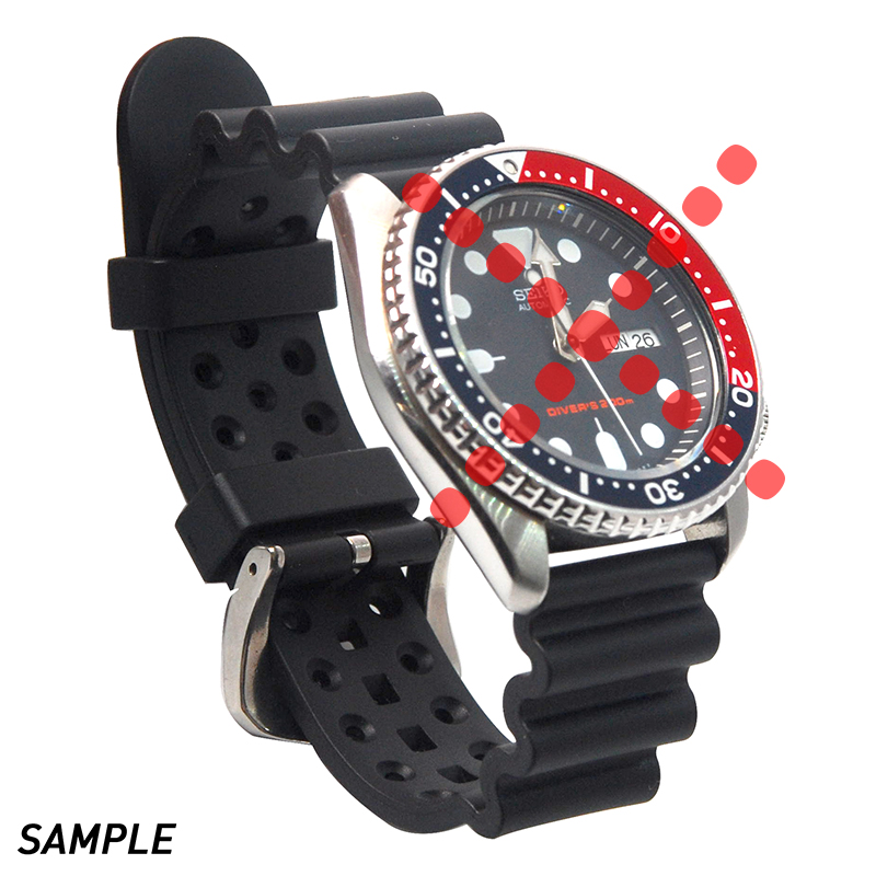 22mm Rubber Diver Watch Strap Silicone Band Replacement For  SKX171/173KX779/781DAL1BP