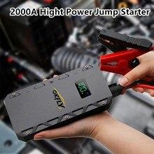 GKFLY urządzenie do uruchamiania awaryjnego samochodu o dużej pojemności 12V wzmacniacz akumulatora 2000A awaryjne urządzenie rozruchowe kable wielofunkcyjny Power Bank