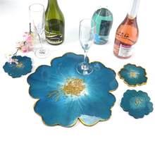 Kiraz çiçekleri çiçek silikon kalıp DIY Coaster kompostosu tepsisi epoksi kristal reçine Coaster sanat el sanatları döküm kalıp
