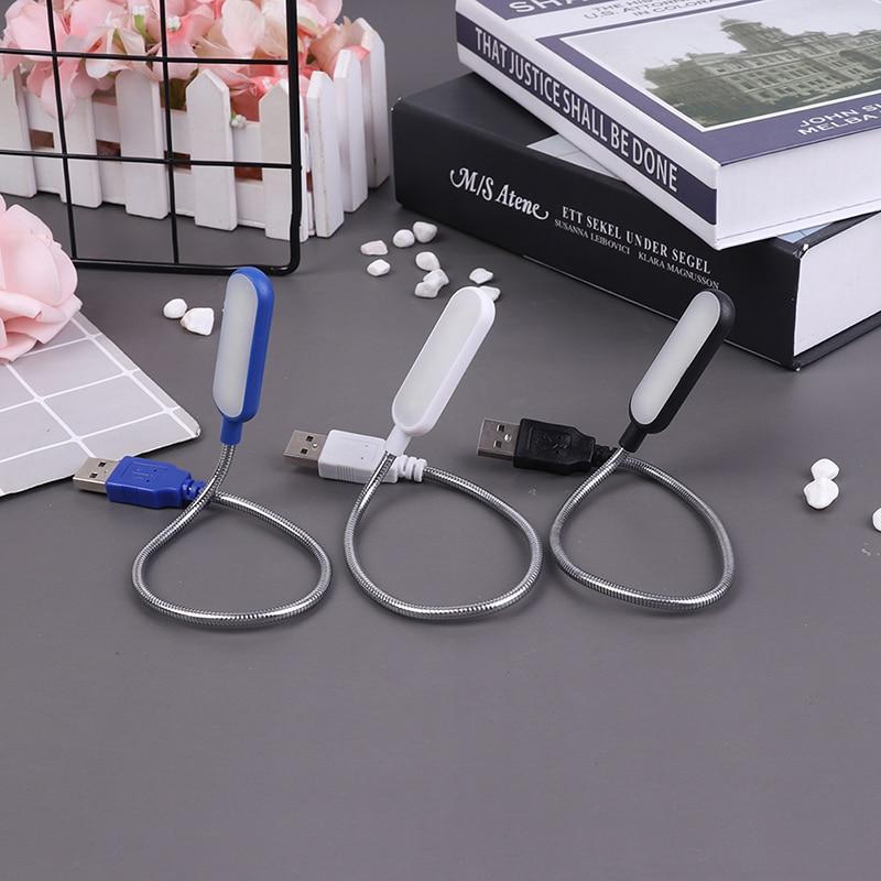 1pc portátil usb led mini luz do livro luz de leitura lâmpada de mesa flexível 6leds usb lâmpada para banco potência portátil notebook computador