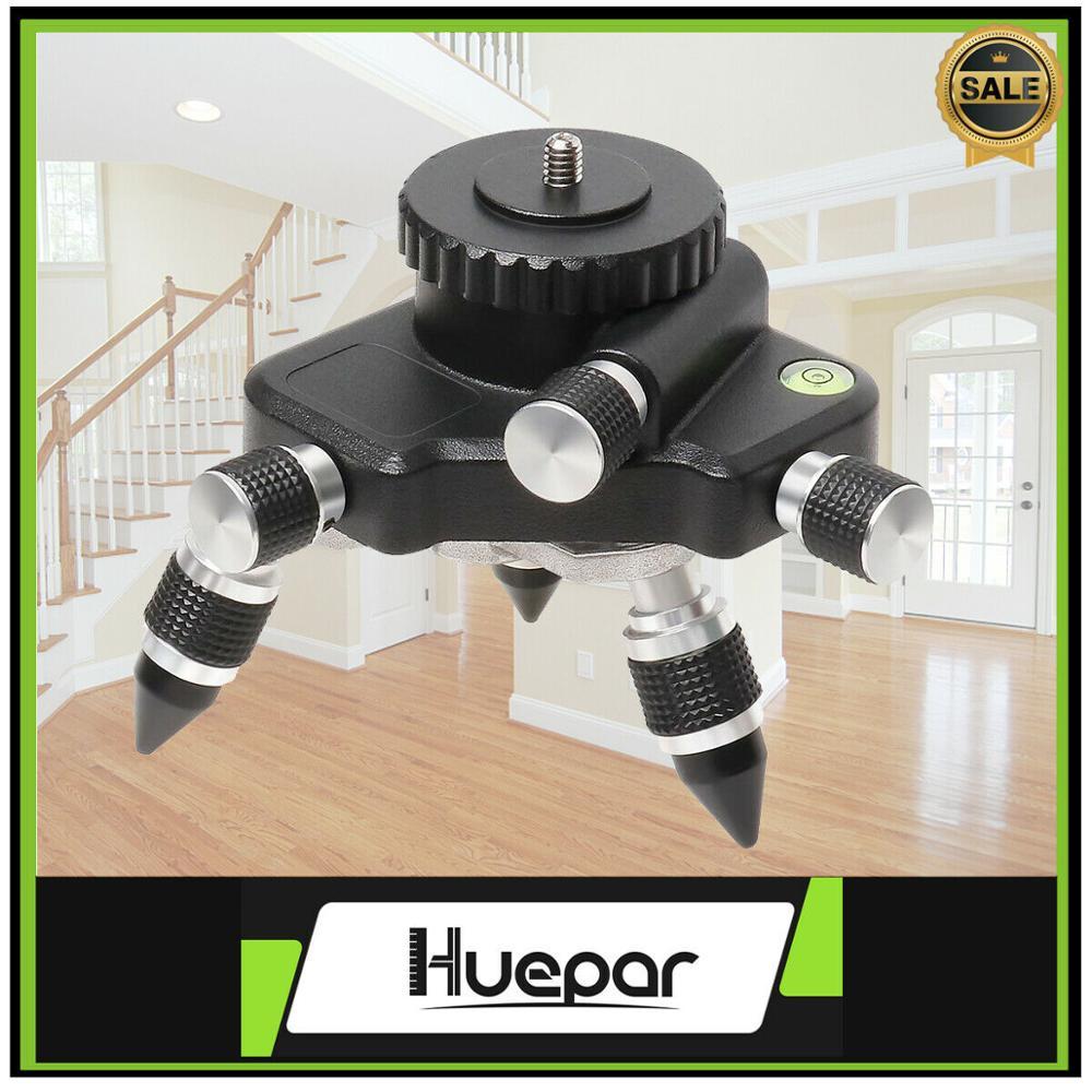 Huepar Laser Level Adapter Instrument 360 Degree Rotating Micro-Adjustment For Moving Rotating Base Applicable Level Tripod