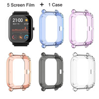 Amazfit GTS Film Protector Case For Xiaomi Huami Amazfit GTS Screen Films Protective Case TPU Soft Silicone Transparent Cases