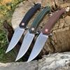 TUNAFIRE Portable folding knife 59-60 high hardness D2 camping self-defense survival knife self-defense knife 1