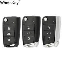 Coque de clé télécommande à 3 boutons, pour Volkswagen Passat B5 VW Golf 7 MK7 Skoda Seat Octavia Beetle Polo Bora