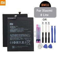 Teléfono Xiaomi batería BM3J 3250mAh para Xiaomi mi 8 Lite alta capacidad alta calidad reemplazo Original batería + herramientas gratis