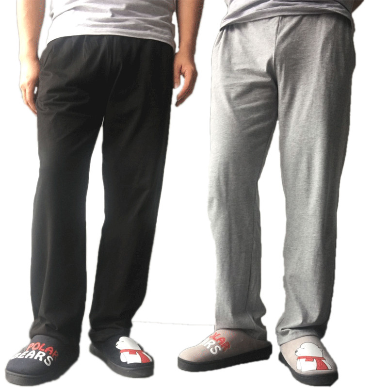 Lounge-Pants Pajamas Homewear Long-Trousers Sleep-Bottoms Men's Summer Soft Cotton Loose