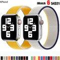 Ремешок нейлоновый для Apple watch band 44 мм 40 мм 42 мм 38 мм, браслет для смарт-часов, браслет-петля для iWatch 3 4 5 6 se band