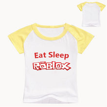 2-14 old year Fashion game T-shirt Children Boys and girl Short Sleeves White Tees Baby Kids Cotton Tops For Girls Clothes(China)