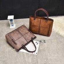цена на Vintage Women's bag 2020 new double-shoulder diagonal shoulder business handbag fashion PU leather bags women