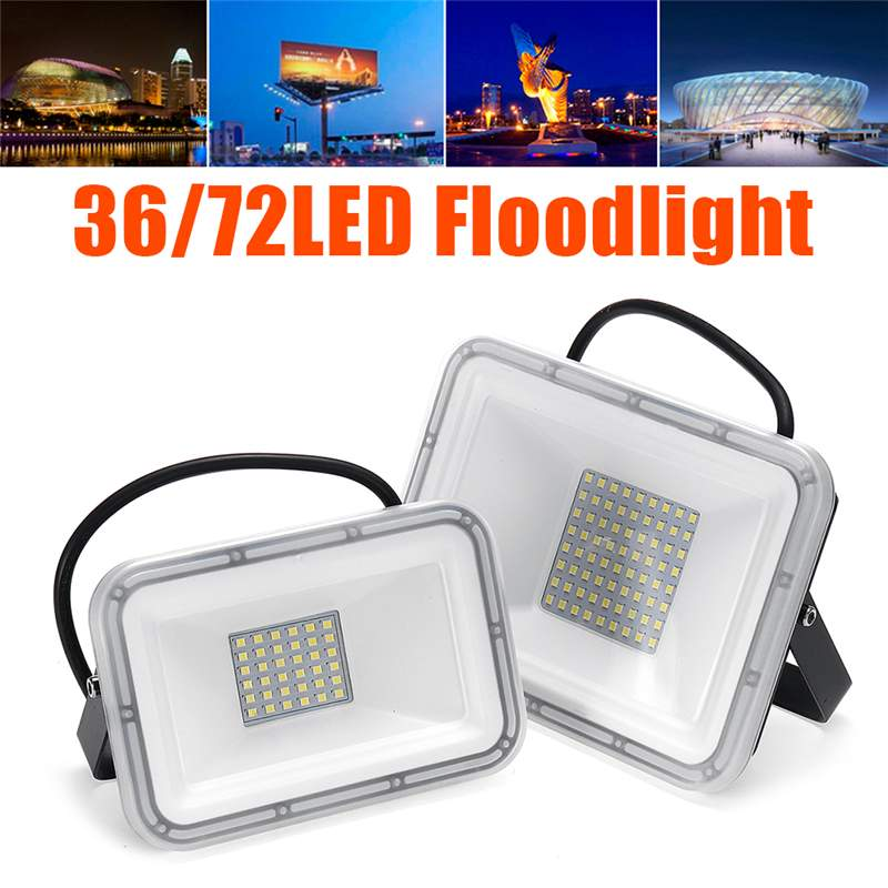 110V <font><b>LED</b></font> <font><b>FloodLight</b></font> 30W <font><b>60W</b></font> Reflector <font><b>LED</b></font> Flood Light Waterproof IP67 Spotlight Wall Outdoor Lighting Cold White image