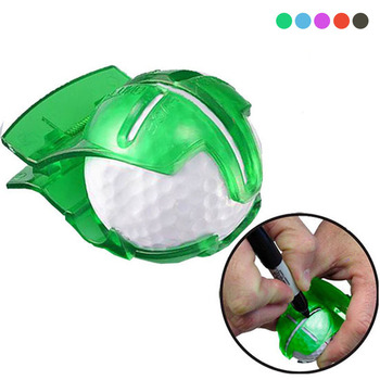 High Quality Golf Ball Line Clip Liner Marker Pen Template Alignment Marks Tool Putting Aids Green Color Outdoor Sport Tool image