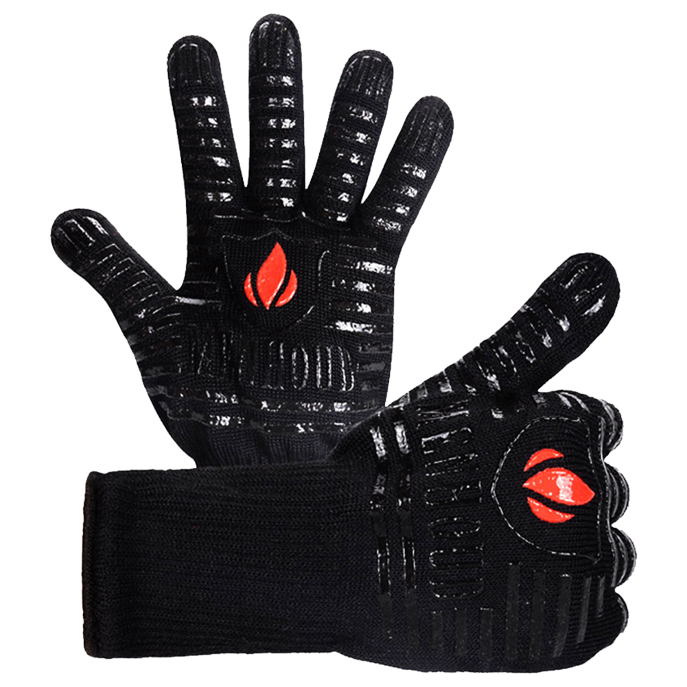 Cooking Kitchen Baking Grilling Glove Thick Thermal Insulation Flexible Microwave Anti Scald Non Slip Heat Resistant Protective|Oven Mitts & Oven Sleeves| |  - title=