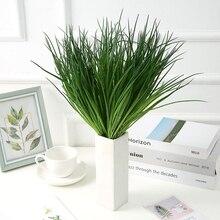 Plastic Grass Artificial Plants Green Grass Plastic plant decorative flowers Garden Home Fake plant Decoration artificial grass