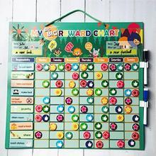 Magnetic Reward Behavior Chores Chart Board Educational Table Calendar Kids Toy EVA Coated Paper Rubber Magnet Iron Powder