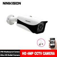 Nueva cámara Super AHD HD 4MP vigilancia al aire libre interior impermeable 6 * arreglo infrarrojo sistema de cámaras de seguridad con soporte
