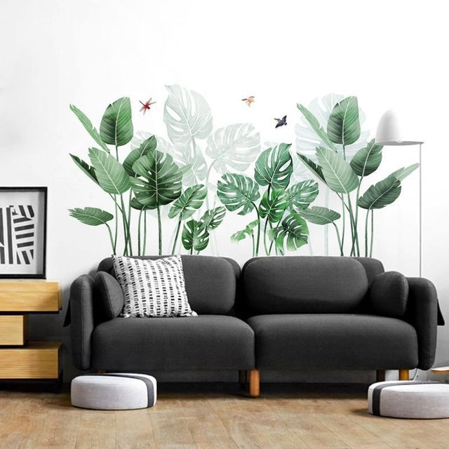 Green Plant Tropical Wall Stickers 8