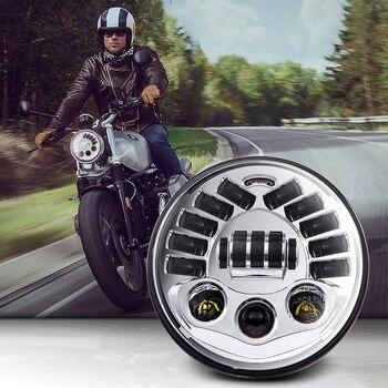 7 Motorcycle Adaptive Headlight LED Light For Harley BMW R NineT R9T Inch H4 Led headlamp