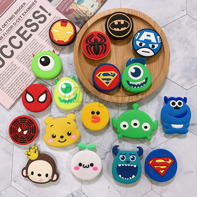 Universal Mobile Phone Stretch Bracket Cartoon Stitch Air Bag Phone Expanding Phone Stand Finger Car Holder For Xiaomi
