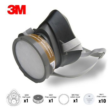 3M 320P Dust Mask + 3701CN Filter cotton Half Face Dust-proof Mask Anti Industrial Construction Dust Haze Fog Safety Gas Mask 1