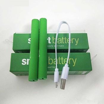 Najnowszy Smart Cart bateria do waporyzatora 510 wkłady gwintowe 380mah podgrzewanie ze zmiennym napięciem baterie Smartcart z ładowarką USB tanie i dobre opinie 18350 NONE 700 mAh CN (pochodzenie) Li-ion 3 7 v 510 Thread 2 4(Green Light)-3 2V(Blue Light)-3 6V(Red Light) Smart Cart Preheating Battery