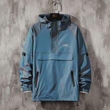 Coats Hoodes-Jackets Vintage Windbreaker Plus-Size Casual Harajuku Streetwear Men Men's
