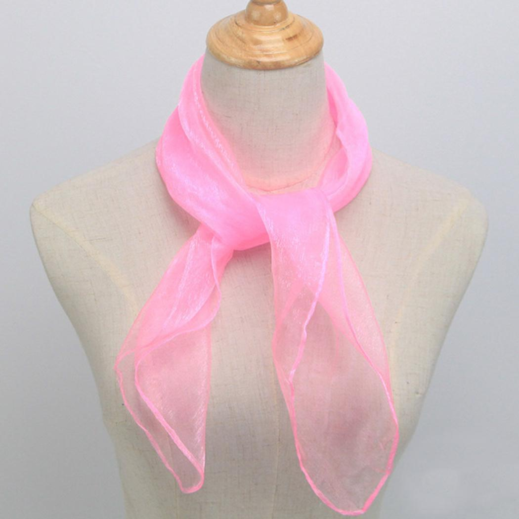 Candy-colored Sailor Dance Small Silk Scarf Dance 0.01kg Solid Scarf
