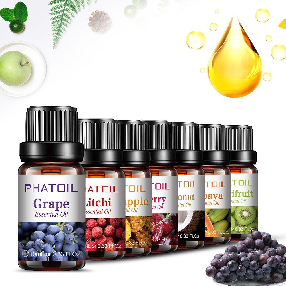 10ml Pure Fruit Fragrance Oil Diffuser Essential Oils Strawberry Mango Pineapple Coconut Flavoring Oil for Lipgloss Soap Making-1