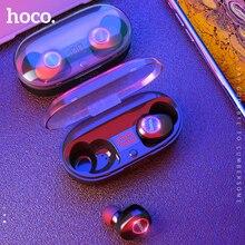 HOCO חדש מיני תאומים Bluetooth 5.0 אוזניות 3D סטריאו בלתי נראה אמיתי אלחוטי אוזניות צליל בס ספורט אוזניות עם כוח בנק