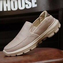 2020 bahar yeni ayakkabı erkekler Slip-on loafer'lar Flats ayakkabı erkekler nefes erkekler rahat ayakkabılar kaymaz büyük boy 37-45 Chaussure Homme