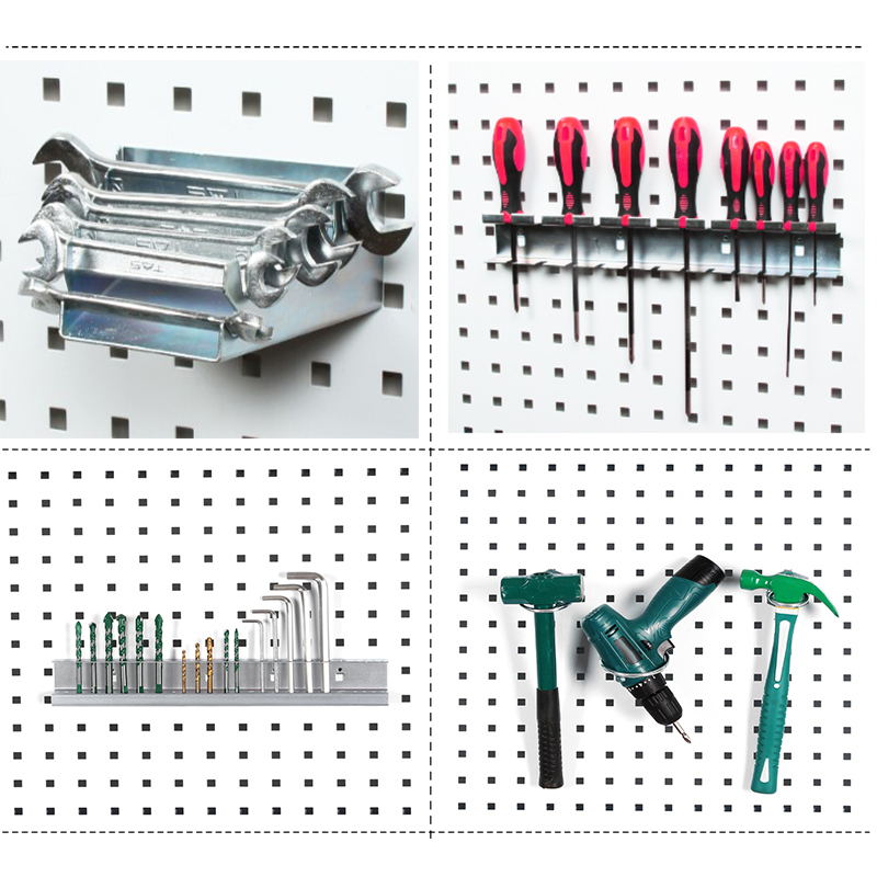 Wall-Mounted Hole board hook Hardware Tool Storage rack toolbox Hanging board Tool Storage Angle Grinder organize Box