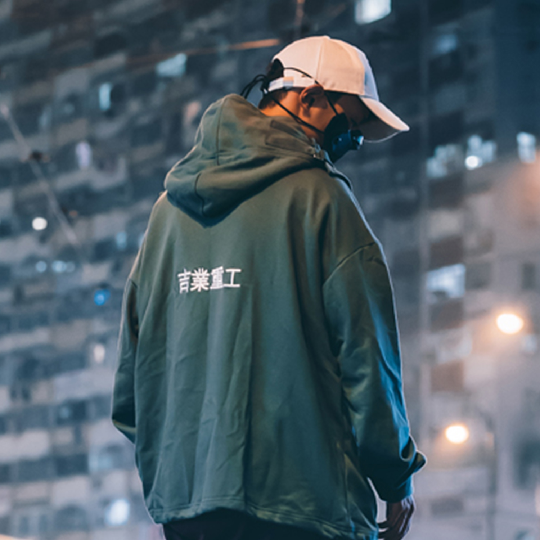 11 BYBB'S DARK Japanese Streetwear Hoodie Men Harajuku Neck Fish Mouth Pullovers Sweatshirts Oversized Hip Hop Hoodies Techwear 5