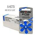 60 шт. Rayovac Extra воздушно-цинковые батарейки для слуховых аппаратов 675A 675 A675 PR44 слуховой аппарат Батарея A675 для слуховых аппаратов