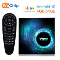 Android 10 TV BOX T95 Allwinner H616 Mali-G31 MP2 4G 32G/64G Set Top Box 4K Google Voice Assistant Netflix Youtube 2G16G TV Box