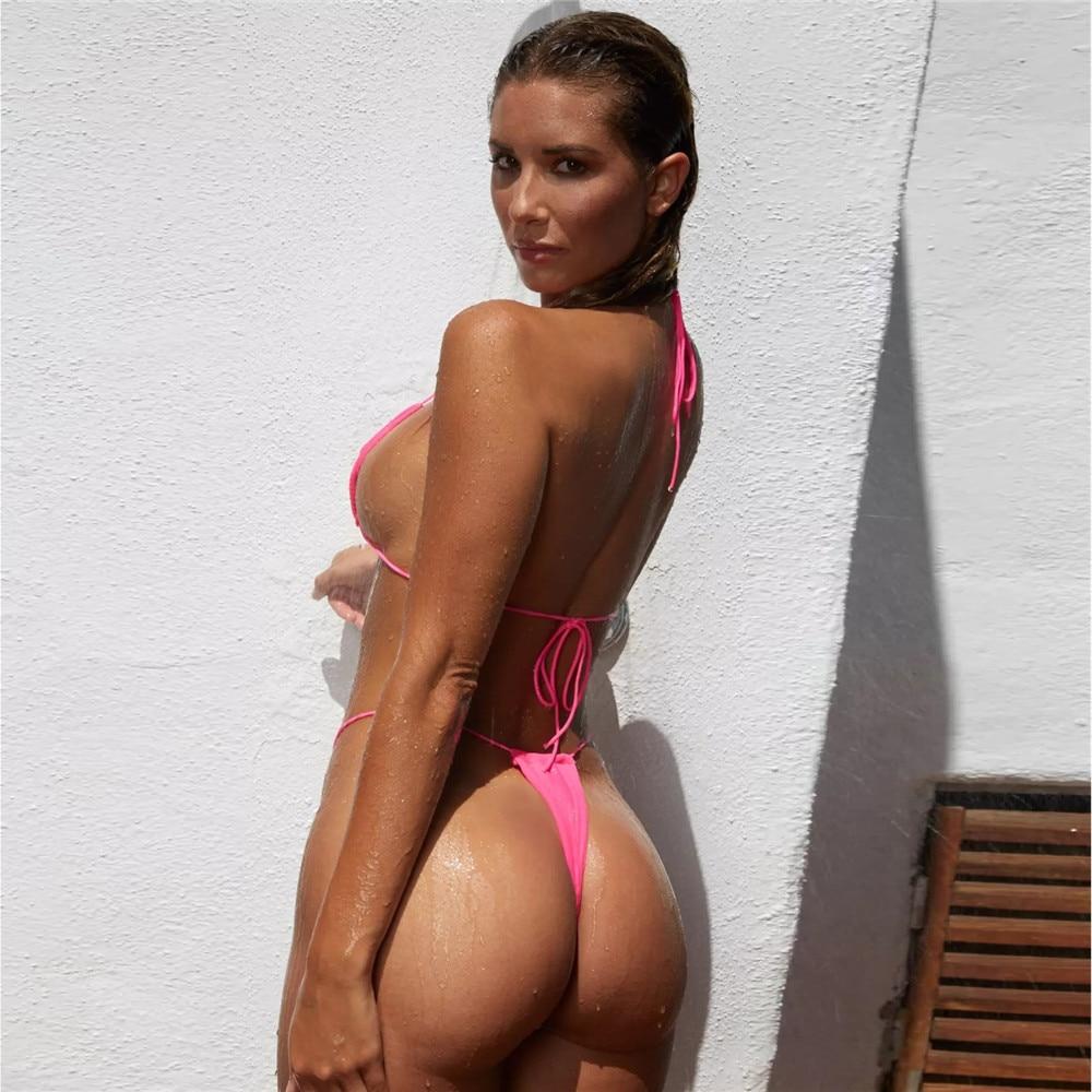 Push Up Women G String Bikini Set