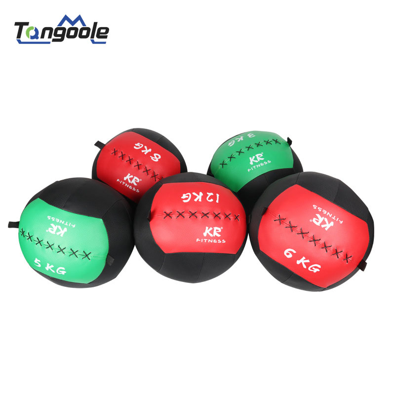 KR 35cm Crossfit Medicine Ball Empty Snatch Wall Balls Heavy Duty Exercise Kettlebell Lifting Fitness MB Muscle Building
