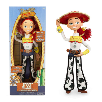 New Movie Disney Toy Story Character Action Figure Model Talking Woody Jesse Cloth Body Model Doll Toy Child Birthday Gift