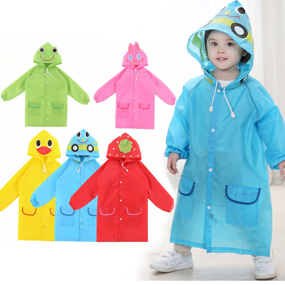 1PCS Children's Cartoon Raincoat Korean Children's Rain Gear Cute Baby Poncho Household Goods Playground Songkran Festival