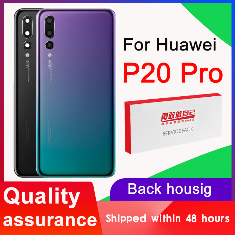 Original Back Cover Battery For Huawei P20 Pro Back Housing Replacement With Camera Lens For Huawei P20 Pro Rear Cover With Logo