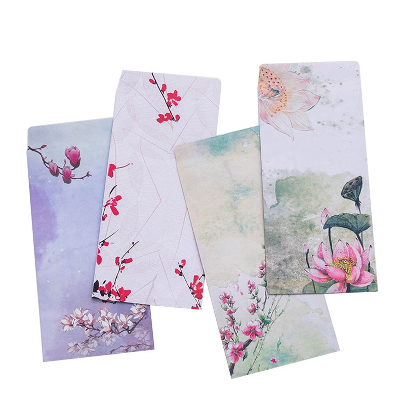 10Pcs/Pack New Chinese Classic Painting Mini Greeting Card Postcard Birthday Letter Envelope Gift Card Set Message Card