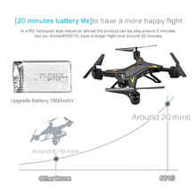 Foldable Aircraft Drone RC Quadcopter with HD Camera 1080P Remote Control LFX-ING